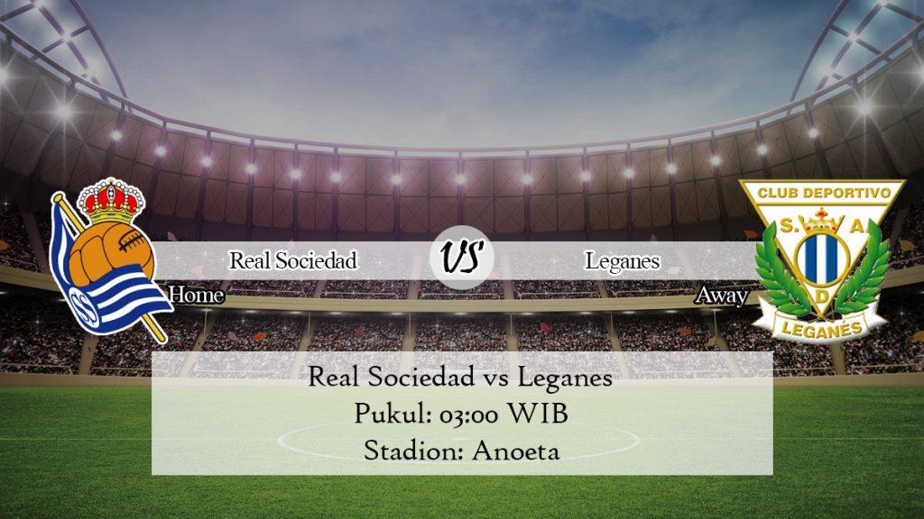 Prediksi Real Sociedad vs Leganes 9 November 2019
