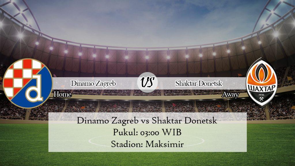 Prediksi Skor Jitu Dinamo Zagreb vs Shaktar Donetsk 7 November 2019