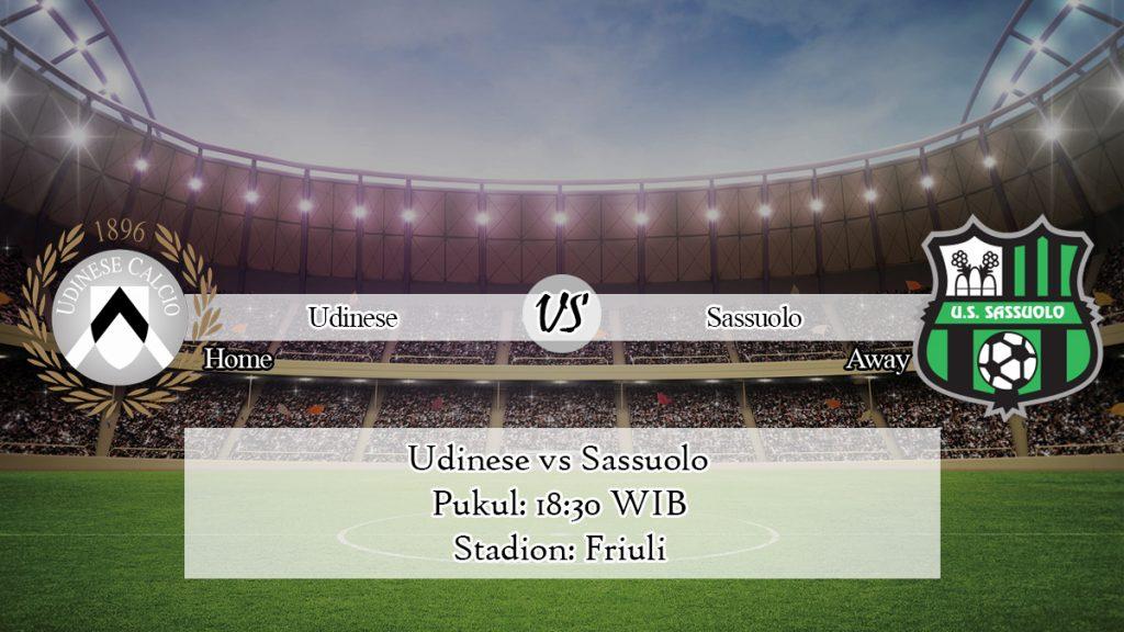 Prediksi Jitu Udinese vs Sassuolo 12 Januari 2020