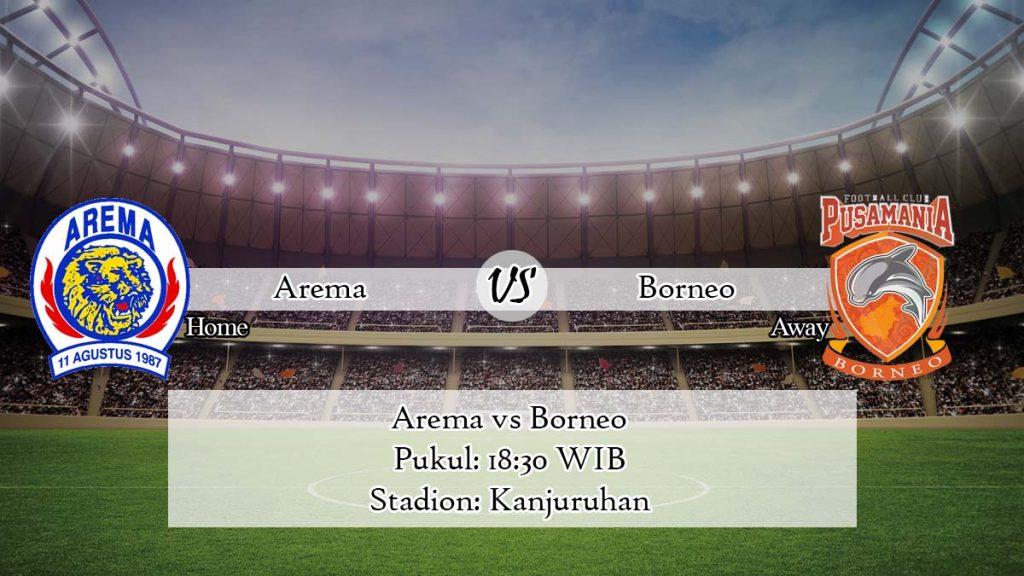 Prediksi Skor Arema vs Borneo 3 April 2020